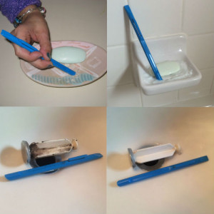4 bathroom cleaning photos