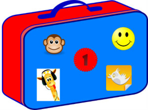 lunch box with stickers