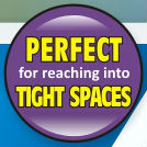 Reach tight spaces graphic
