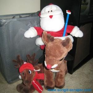 Santa with Scrigit Scraper