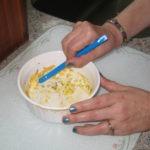 Scraping round baking dish