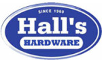 Hall's Hardware sign