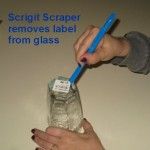 Removing label from glass