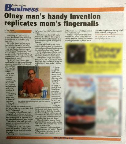 Olney News article