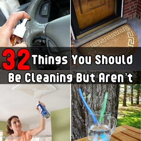 Article title with household cleaning photos