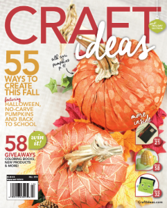 Craft Ideas Magazine Cover - Fall 2016