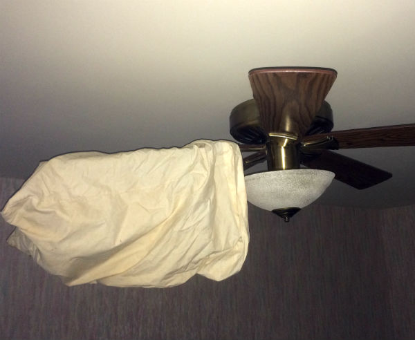 Pillowcase cleaning fan