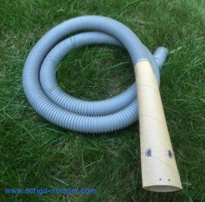 cardboard tube on hose for deep clean