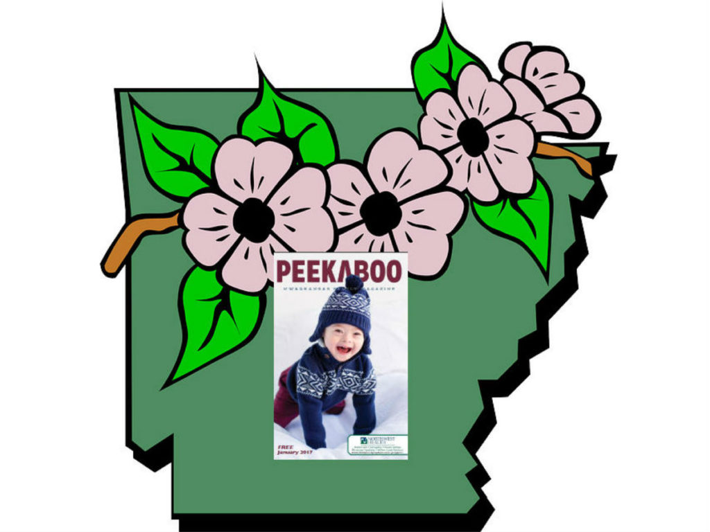 Peekaboo Mag - Arkansas map
