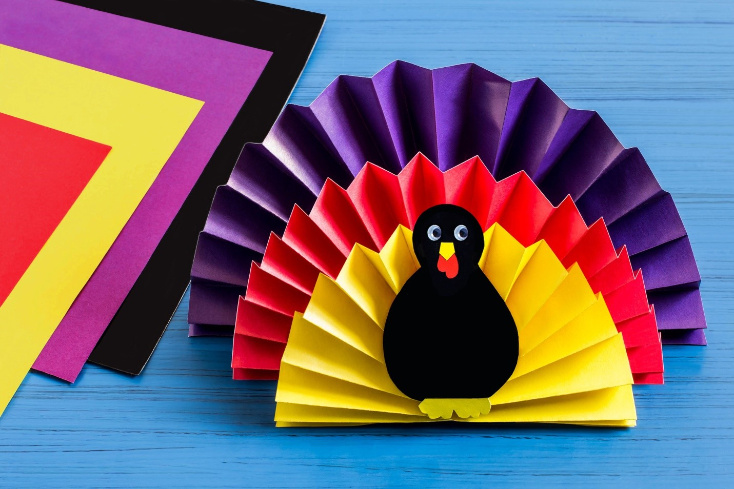origami paper crafts ideas easy turkey thanksgiving craft project scrigit scraper 5053