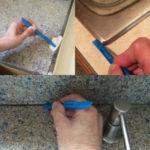 cleaning edges with Scrigit Scraper