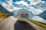 RV lifestyle - RV on mountain road