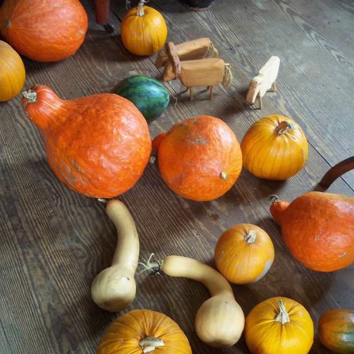 gourds in tablescape