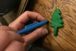 Clay Christmas tree with Scrigit