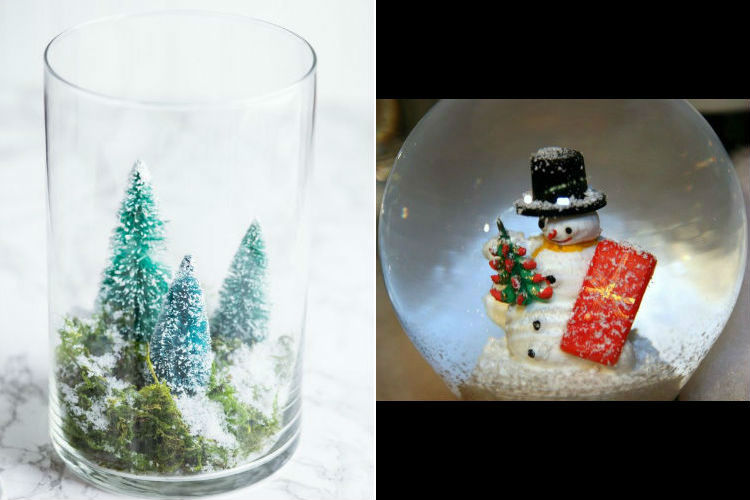 terrarium & snow globe holiday decorations
